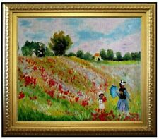 Framed Hand Painted Oil Painting, Monet Les Coquelicots a Argenteuil, 20x24in