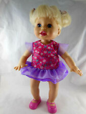 "Fisher Price Mattel 14"" LITTLE MOMMY DANCY BABY Doll Dances Talks Toddler 2010"