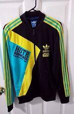 Adidas star wars Hoth running full zip tracksuit size S small black yellow men