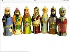 "Nativity Set of 7 Christmas Ornaments Christmas Russian Import 3.5"" Beautiful!"