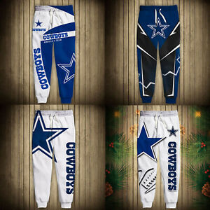Dallas Cowboys Casual Joggers Pants Sweatpants Active Sports Workout Trousers