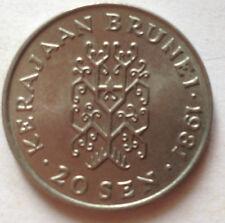 Brunei 2nd Series 20 sen 1981 coin (B)