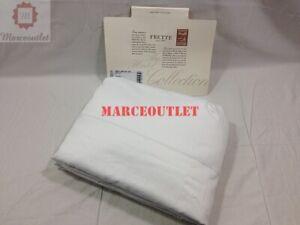 Frette Single Ajour 100% Cotton Sateen QUEEN Duvet Cover White