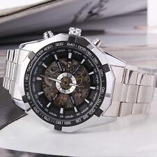 Herren Armbanduhr XXL Automatikuhr Edelstahl Armband Uhr NEU! / WM257