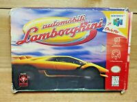 Automobili Lamborghini (Nintendo 64, 1997) Game, Insert and Box Tested