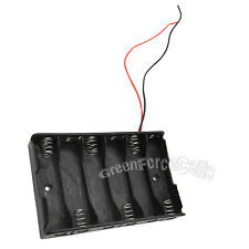 10 pcs 6 AA (1X6) 14500 Cells Battery Clip Holder Box Case With Wire Lead Black