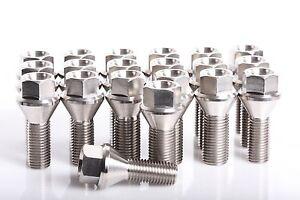 Mini Cooper Titanium Lug Bolts M12x1.5x48 Aerospace Grade 6AL4V Titanium 20 pc