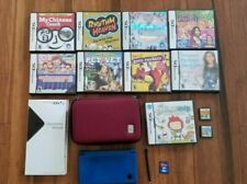 NINTENDO DSi XL with CASE and CHARGER  + 11 GAMES - 8 GB SD CARD - FREE SHIP!!!