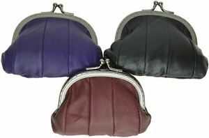 Genuine Leather Change Purse coin bag Ladies Wallet purse mini Framed coin case
