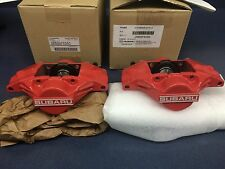Genuine SUBARU WRX OEM RED SUBARU 2 PISTON BRAKE CALIPER Rear Set Pair 2006-07