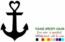 Anchor wth Heart Funny Vinyl Decal Sticker Car Window laptop tablet netbook 12""