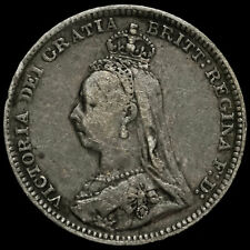 More details for 1893 queen victoria jubilee head silver threepence, very rare (r2)