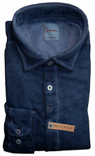 SIGNUM Camicia Manica Lunga Regular Nuovo/Taglia L/Blu Scuro/Cotone/s1.1022
