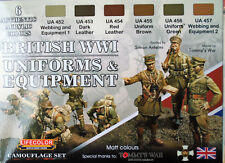 Lifecolor Acrylics LC-CS45 WW1 British Infantry Uniforms  + Equipment Paint Set