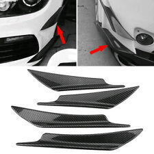 4x Carbon Fiber Auto Car Bumper Fin Canard Splitter Diffuser Valence Spoiler Lip