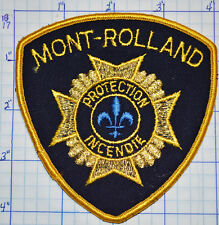 CANADA, MONT-ROLLAND FIRE PROTECTION INCENDIE QUEBEC GOLD EDGE PATCH