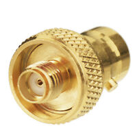 10x BNC Female to SMA Jack RF Adapter connector Goldplated For Ham Radio Antenna