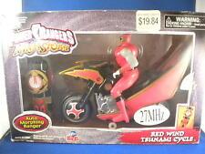 Rare Bandai Power Rangers Ninja Storm Red Wind Tsunami Cycle Rc Remote Control
