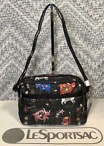 NEW LeSportsac Happy Ox Shoulder Bag DANIELLA CROSSBODY Black 2434 F817 P1