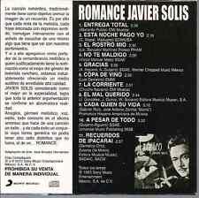 rare BOLERO 60s 70s CD slip JAVIER SOLIS Romance ENTREGA TOTAL el mal querido