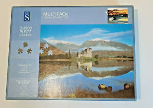 2 x 1000 Piece Jigsaw Puzzles - Tranquility - Multi Pack WHSmith