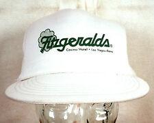 vtg 80s Fitzgerald's Las Vegas Reno Casino Snapback Trucker Hat Cap mesh indie