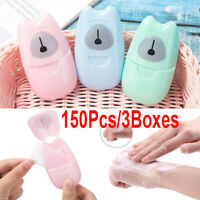 Lots Disposable Boxed Paper Soap Travel Portable Hand Washing Box Scented Set @