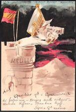 Roberty. Conflit Hispano-Marocain. Général Marina. Aquarelle originale. 1910