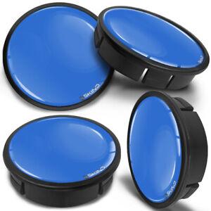 4 x 60mm - 56mm Universal Black Blue Car Rims Alloy Wheel Center Hub Centre Caps