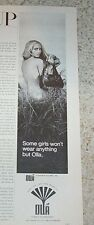 1969 print ad - Olla handbag makers Sexy nude girl vintage advertising ADVERT