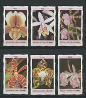 Orchids Flowers mnh set of 6 stamps Batum