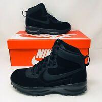 *NEW* Nike Manoadome (Men's Size 9) Athletic Leather Hiking Boots Black Shoes