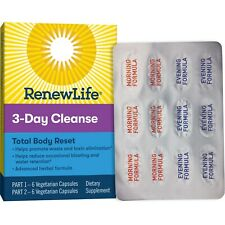Renew Life Adult Total Body Reset Cleanse, 3-Day Program, 12 Capsules.