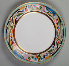 A Soviet Porcelain Plate, Serg. Chekhonin design, State Porcelain Factory, 1920
