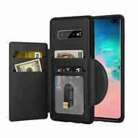 For Samsung Galaxy S10 6.1'' 2019 Wallet Case Cover w/ Card Slots RFID Blocking