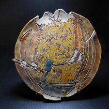 Art déco céramique faïence assiette religion moine forge Moyen-âge France N7678
