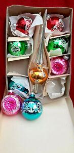 33) 9 anciennes boule de Noël en verre /old christmas ornaments