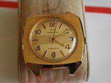 Vintage 1974 Bulova CARAVELLE Transistorized 13J Men's Watch w/Date --For Repair