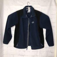 THE NORTH FACE Men's Fleece Jacket Full-Zip Blue/Black Size Med M