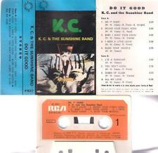 K.C. & THE SUNSHINE BAND Do it good RARE SPANISH cassette   PAPER LABEL SPAIN