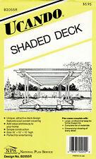 Ucando Woodworking Pattern B2055R 16x10 Shaded Deck Unused