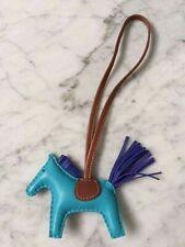 Hermes Bleu Azteque/Bleu Electrique Rodeo Charm Pm Size - Bnib!