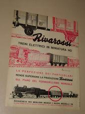 RIVAROSSI MODELLISMO TRENI ELETTRICI=ANNI '50=PUBBLICITA=ADVERTISING=WERBUNG=533