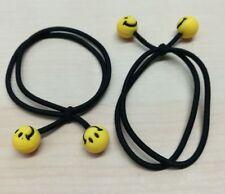 ELASTICI per capelli n. 5pz. fermacoda elastico resistente doppio nero con SMILE