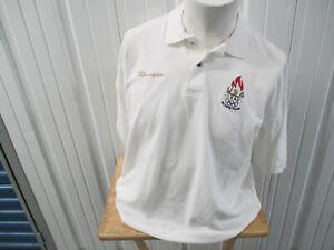 VINTAGE CHAMPION ATLANTA XXVI USA 1996 OLYMPIC TEAM SEWN XL COLLAR POLO SHIRT