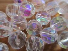1/2 Gross VINTAGE W. German Full Tin Cut Beads Crystal AB 10mm w/Orig Packs WOW!