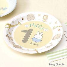 1st Compleanno Piastre X 8-Baby Miffy Design-perfetto per una festa di compleanno 1st
