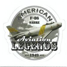 F-86 SABRE JET AIRPLANE  Sticker Decal