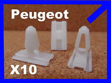 10 Peugeot 205 ricambio Paraurti in plastica listelli fermo di plastica