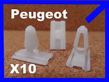 10 Peugeot 205 sostitutivi plastica bumper MOULDING Fastener Clips